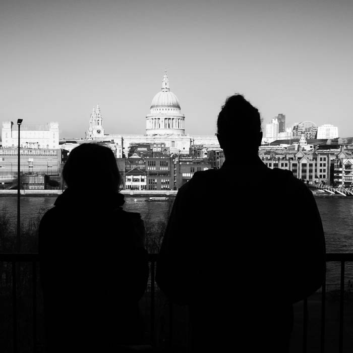 St Paul's Cathedral as seen from the Tate Modern, London.