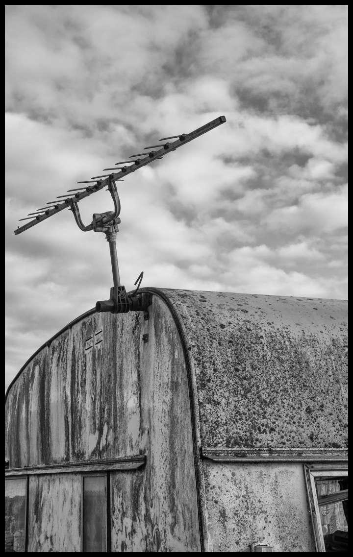 Abandoned Caravan. Kirkpatrick Durham, Kirkcudbrightshire.
